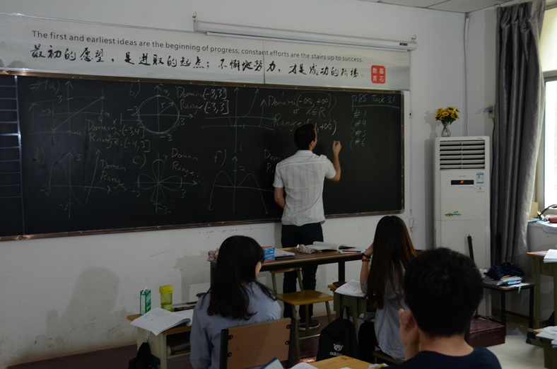 Peter外教在上课